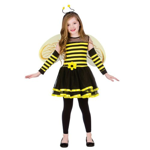 Childrens Girls Bumblebee Costume for Wasp Insect Bee Fancy Dress